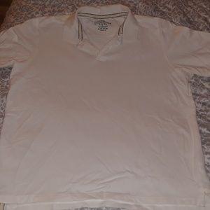 Men's XL white polo